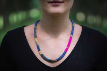 Cotinga Necklace on Model